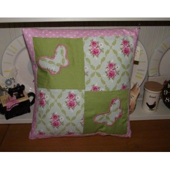 Patchwork Butterflies Cushion