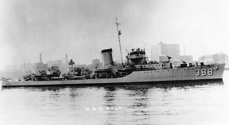 USS Helm (DD-388) A Bagley-class destroyer, named for Rear Admiral James Meredith Helm. The ship received 11 battle stars for her service in WWII.