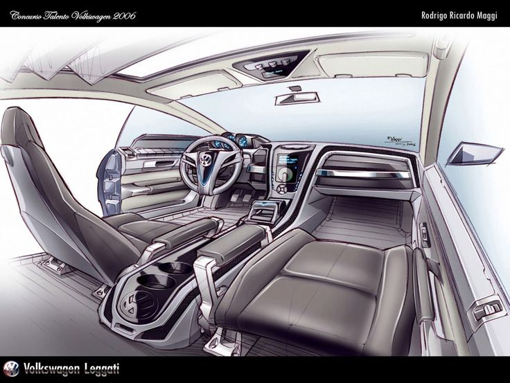 VW Interior sketch by Rodrigo Maggi