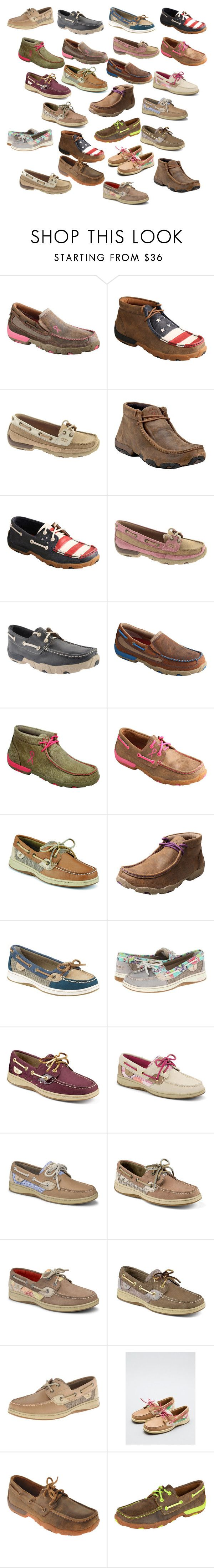 """""""Sperry's and twisted x's <3"""" by julies2001 ❤ liked on Polyvore featuring Twisted X Boots and Sperry Top-Sider"""
