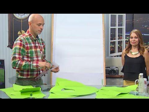 Aprende a diseñar una blusa manga murciégalo con nudo en cintura - Hecho con estilo - YouTube