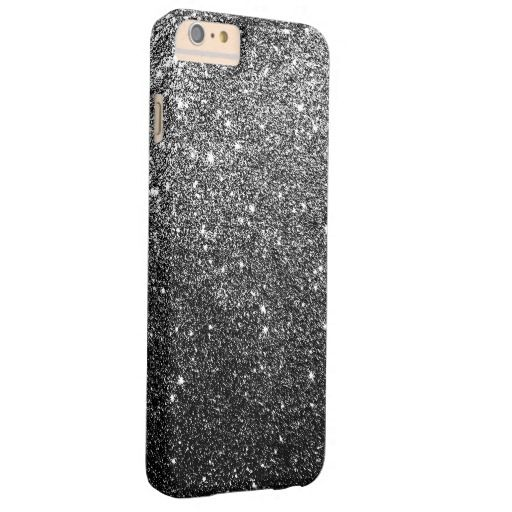 Elegant black glitter case Barely There for iPhone 6 Plus #iphone6plus #case
