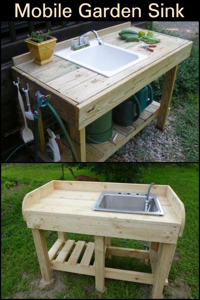 Install A Fully Functional Diy Outdoor Sink In Your Backyard In 2020 Garden Sink Outdoor Sinks Outdoor Garden Sink