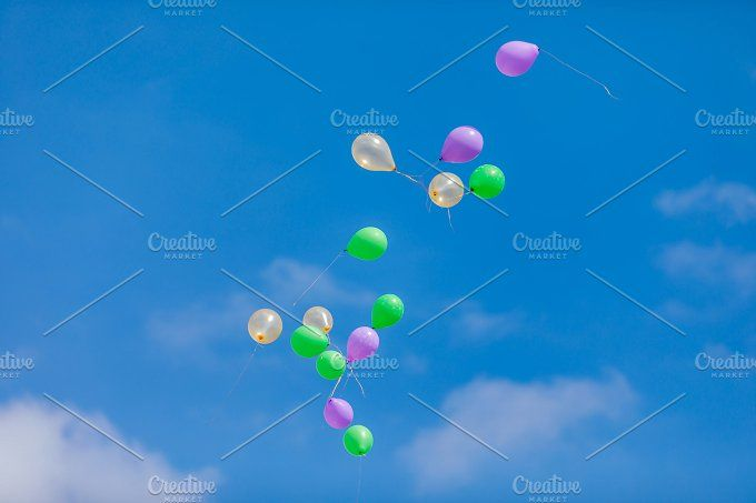 Flying balloons by OSORIOartist on @creativemarket