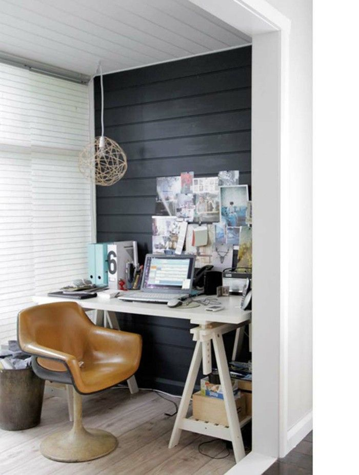 Office Equipment Of Small Chair Leather Black Accent Wall