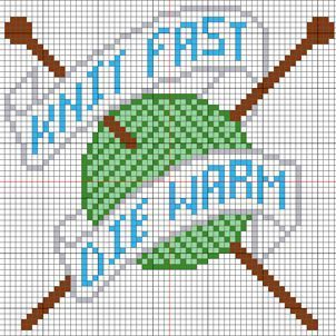 Cute cross stitch pattern... no color chart available, just use the pattern chart as your color guide.. or choose your own colors...