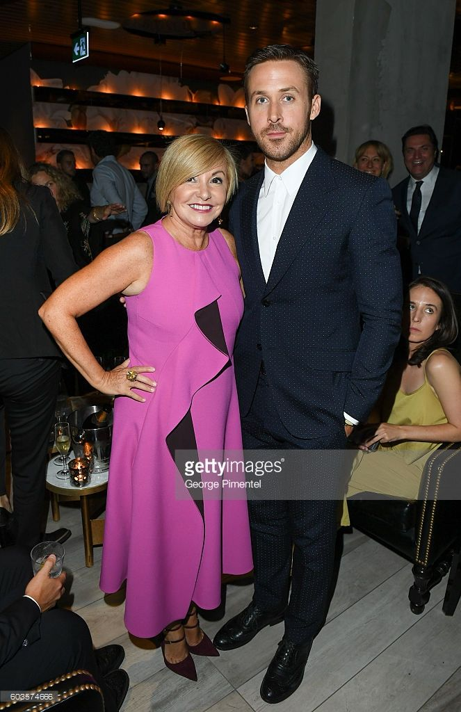 Managing Director of Hugo Boss Canada Lanita Layton and actor Ryan Gosling attend 'La La Land' After Party Hosted By Hugo Boss at Lavelle on September 12, 2016 in Toronto, Canada.