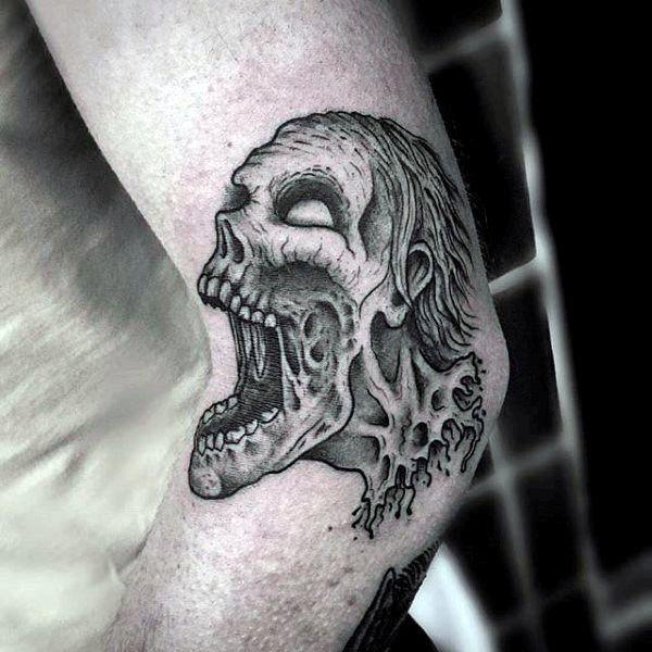 best 25 zombie tattoos ideas on pinterest goth tattoo
