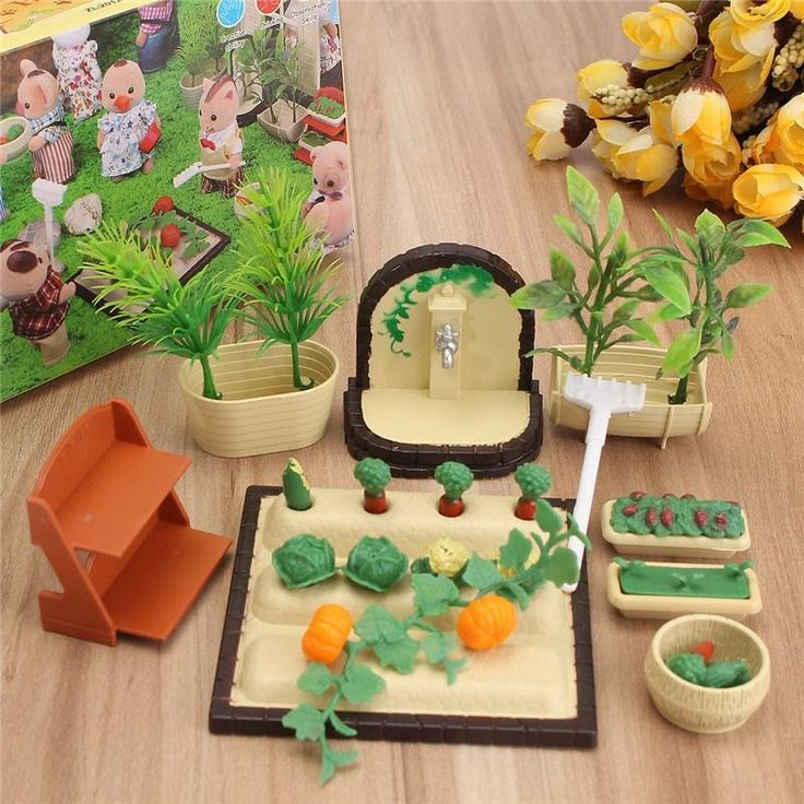 Miniatures Gardening Vegetable, Flowers and Food