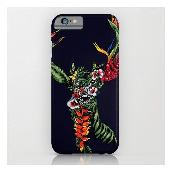 Tropical Deer iPhone 6s Case ($35) ❤ liked on Polyvore featuring accessories, tech accessories and iphone & ipod cases