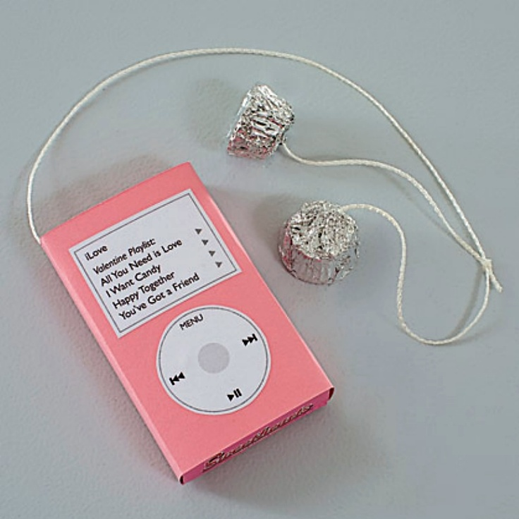 box of conversation hearts and two mini peanut butter cups in disguise as an I-pod, hit all the right notes.