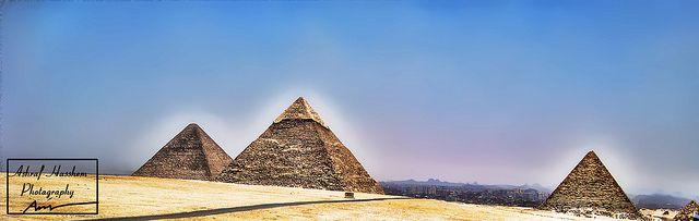 Majestic pyramids of Egypt