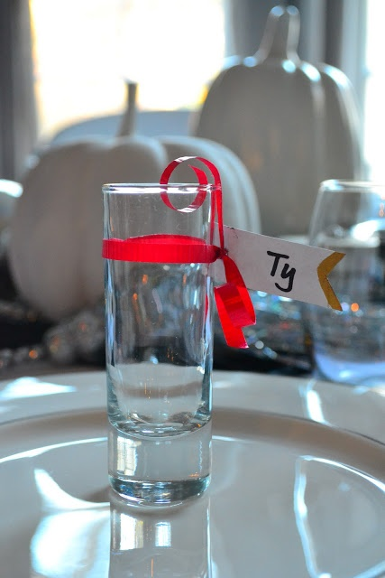 shot glass dinner party favors