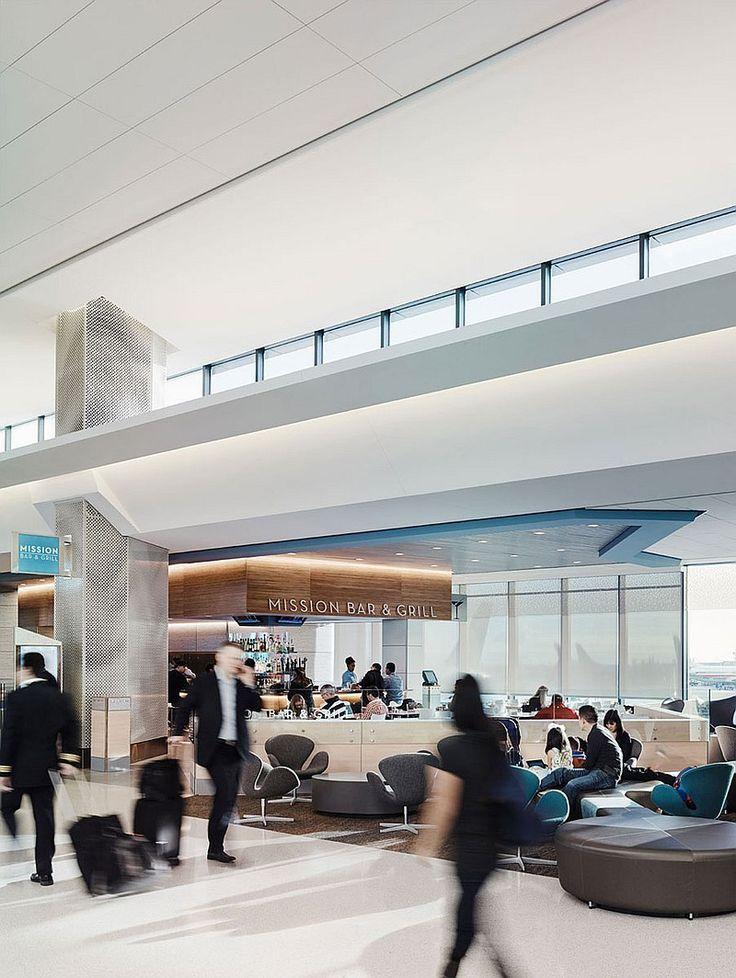 San Francisco International Airport's Terminal 3 by Gensler. #design #interiordesign #interiordesignmagazine