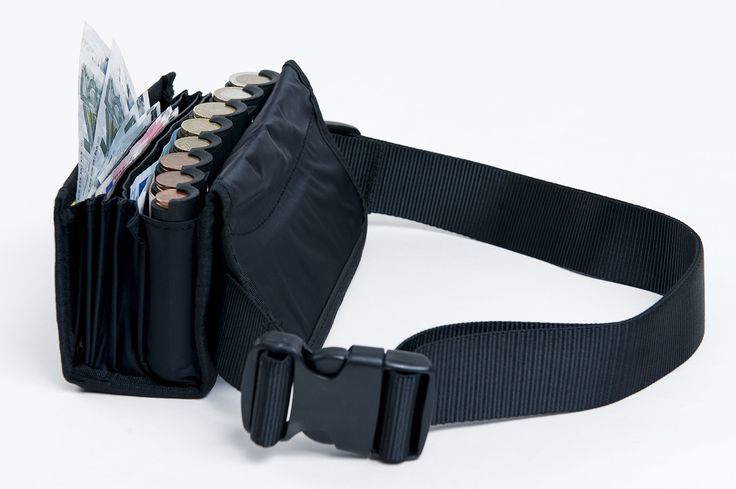 WAITER WALLET, incl. BELT, WALLET AND COIN HOLDER, incl. euro coin changer sorter. BLACK: Amazon.co.uk: Luggage