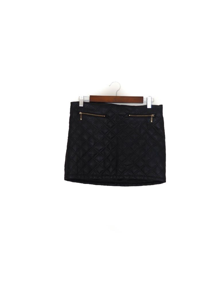 Falda mini, negra, polipiel, textura, ?, Otoño Invierno Mini skirt, black, vegan leather, Autumn Winter