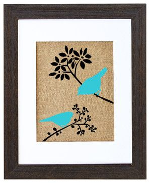 Spring Birds Art - eclectic - prints and posters - Fiber and Water