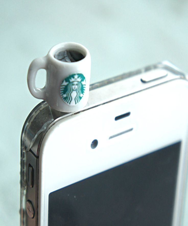 starbucks black coffee phone plug | Jillicious charms and accessories