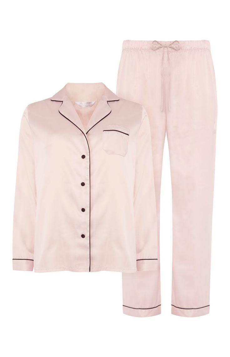 Primark Pink Satin Pyjama Set, £10