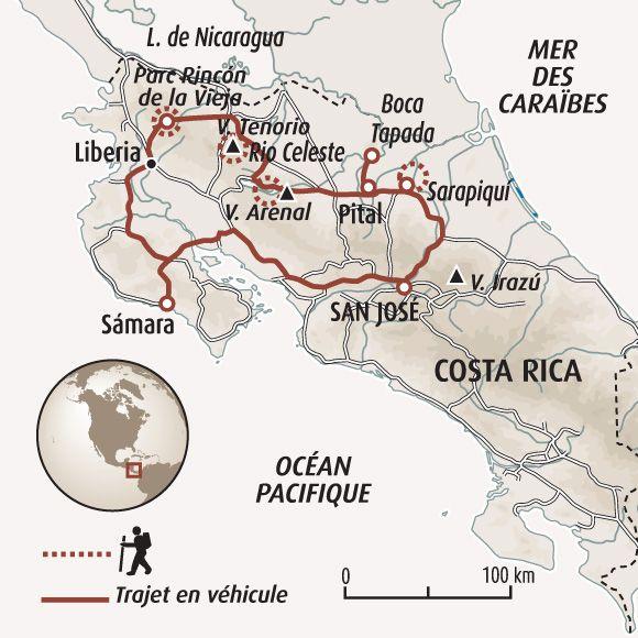 Circuit carte Costa Rica : L'essentiel du Costa Rica