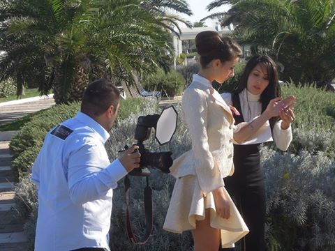 Photoshoot captured all over the news in Riccione, Italy and their official FB page
