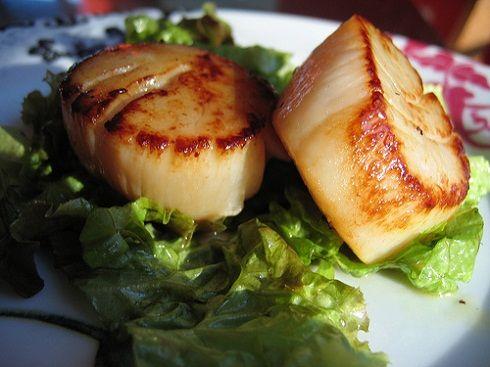 Seared Scallops with Meyer Lemon Vinaigrette Recipe