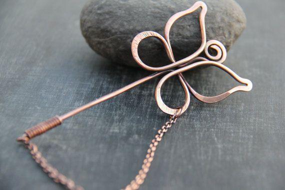 Shawl pin scarf pin sweater pin brooch Butterfly by Keepandcherish