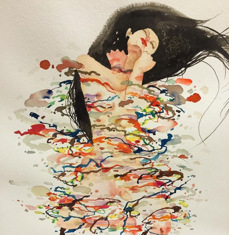 don't come - David Choe #watercolor