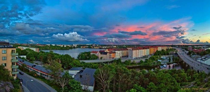 El atardecer en Estocolmo, Suecia