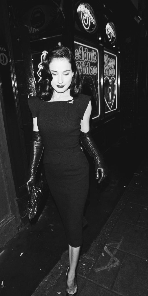 Another contemporary icon who combines the past and the present Dita Von Teese. Such style