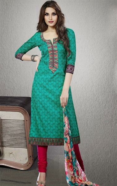 Picture of Butta Greenish Blue Color Elegant Salwar Kameez