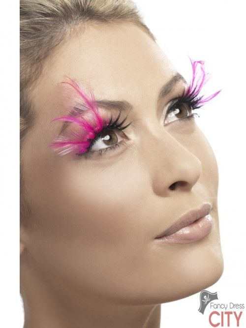 Eyelashes, Pink Feathered
