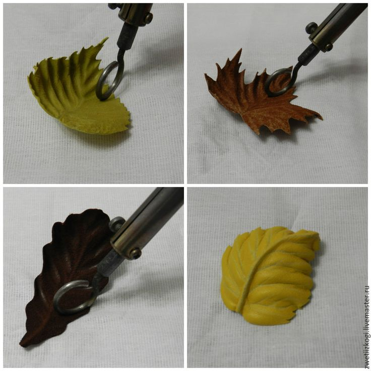 подарок ручной работы. Felt leaves with decoupage type glue backing. Made into a brooch.