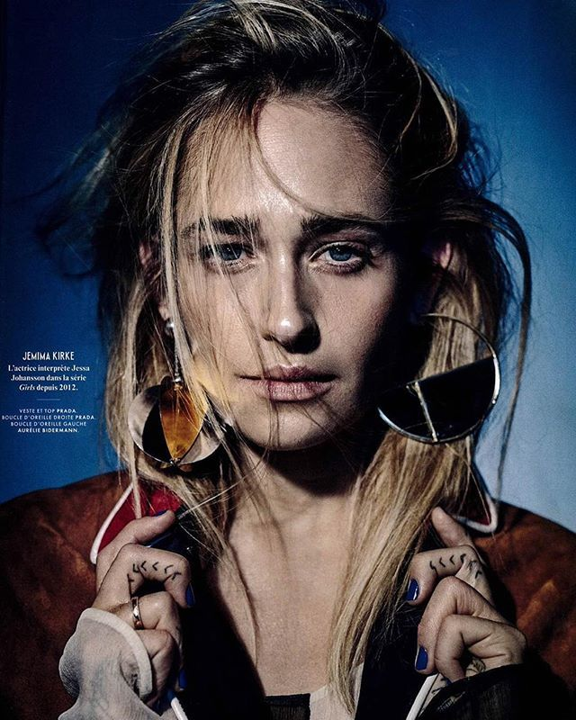 My cool Bianca earring on Jemima Kirke in the last issue of Vanity Fair! ❤️ @vanityfairfrance thanks @mpmeister @virginiemouzat #aureliebidermann