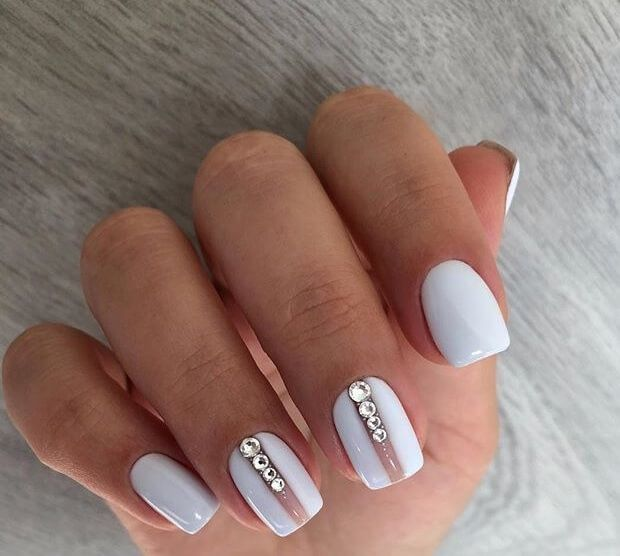 Nail Art 4471 White Gel Nails Elegant Nail Designs Short Nail