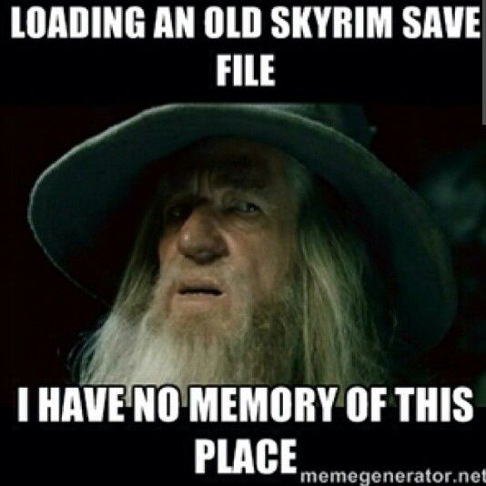 I know @gamewatcher can relate to this in #Skyrim (or pretty much any Elder Scrolls games...)