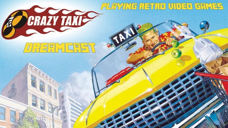 Crazy taxi dreamcast {playing retro video games}
