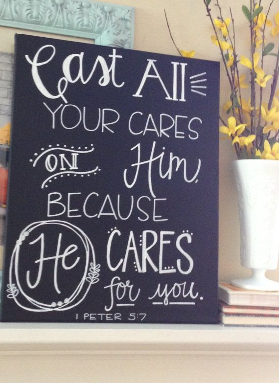 Cast All Your Cares 16 x 20 by AdornmentsbyWendi on Etsy