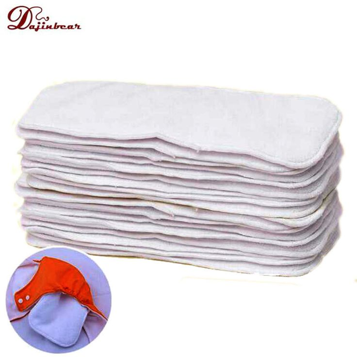 Sunny ju 10pcs/lot Baby soft Cotton Mircrofiber Cloth Diaper Insert baby Nappy bags 2 Layer Reuse diapers Washable Diaper Liner