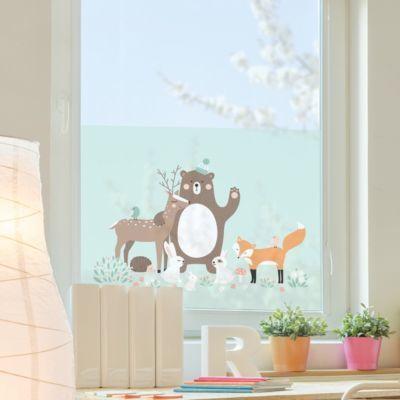 Fensterfolie - Sichtschutz Fenster Forest Friends mit Waldtieren blau - Blumen Fensterbilder 108x162-60.00 Jetzt bestellen unter: https://moebel.ladendirekt.de/dekoration/wandtattoos/wanddekoration/?uid=94f303b9-43b1-5932-aa98-b45337cf3855&utm_source=pinterest&utm_medium=pin&utm_campaign=boards #heim #tattoos #dekoration
