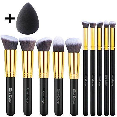 Oferta: 9.99€. Comprar Ofertas de EmaxDesign - Juego de brochas de maquillaje kabuki de fibra sintética para las cejas, base de maquillaje, polvos, crema, incl barato. ¡Mira las ofertas!
