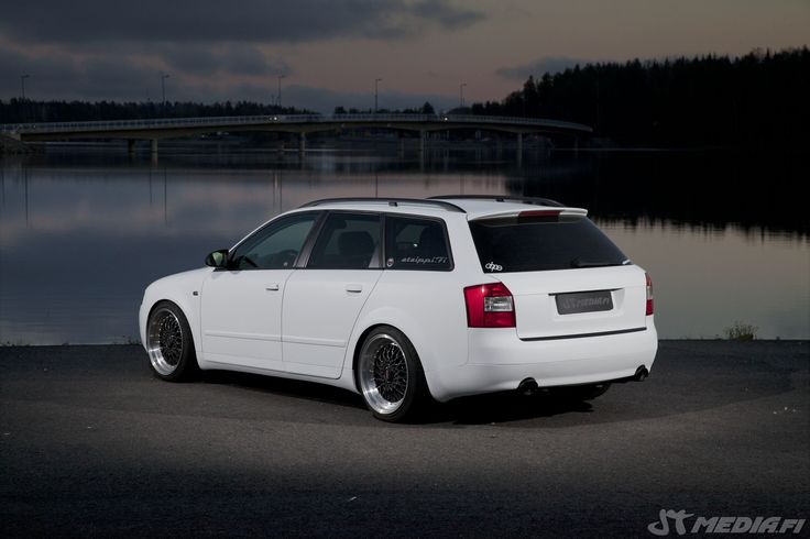 Audi A4 b6 avant wrapped matte white by http://shop.eteippi.fi/