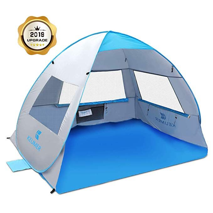 Sgodde Large Pop Up Beach Tent 2019 New Anti Uv Sun Shelter Tents Portable Automatic Baby Beach Tent Instant Easy Baby Beach Tent Pop Up Beach Tent Beach Tent