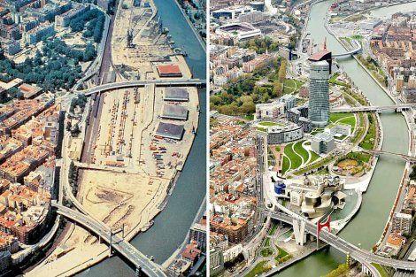 Bilbao antes y después.