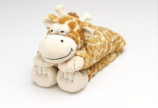 Rozgrzewający szal do mikrofalówki - Żyrafa