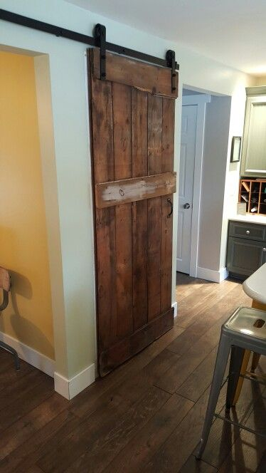 sliding barn door to the basement future home ideas pinterest