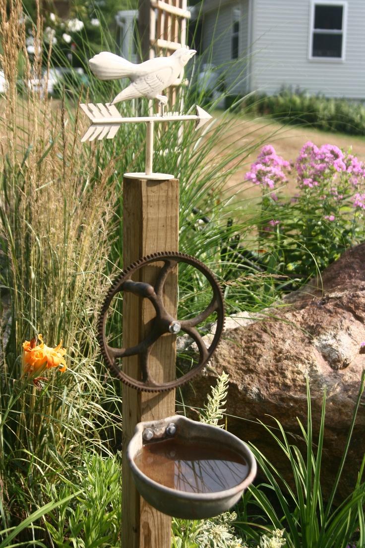 My Junky Bird Bath Garden Ideas Pinterest Gardens