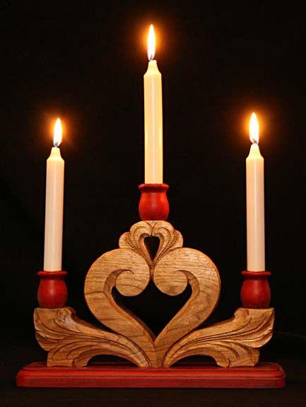 Scandinavian Candleholder from Norsk Wood Works, LTD