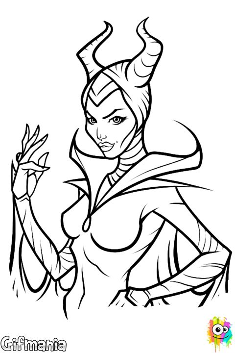 Maleficent Is A Disneys Villain And Character In The New Movie Print Color This Amazing Coloring Sheet Have Fun