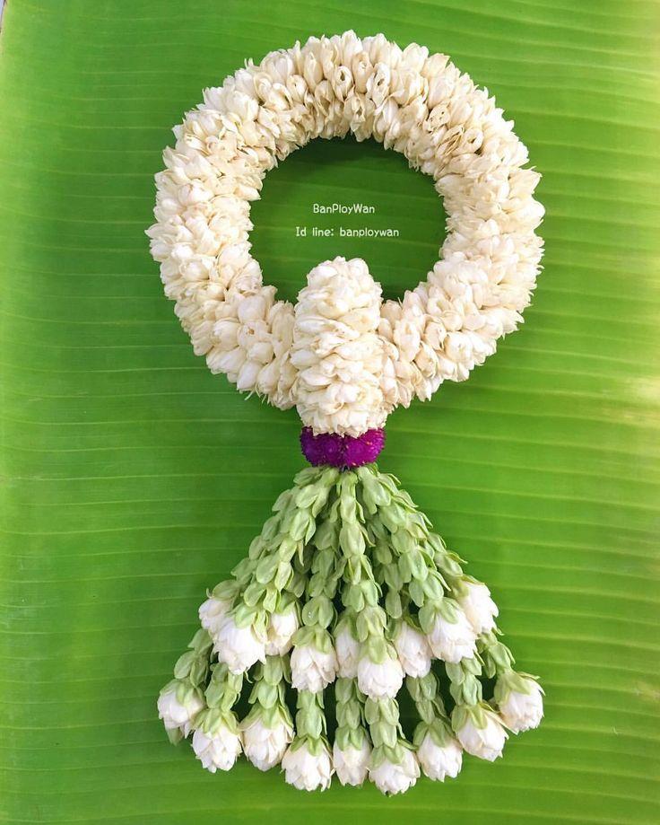 ดอกมะลิ: #มาลัยมะลิล้วน อุบะทำจากดอกขจร พอนำมาร้อยรวมกันก็ยิ่งหอม